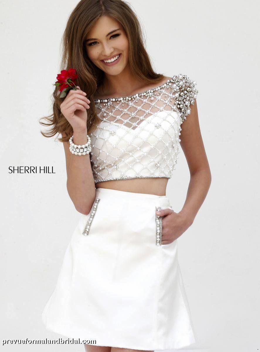 Sherri hill 32309 sherri hill wedding gowns two piece for Sherri hill short wedding dress