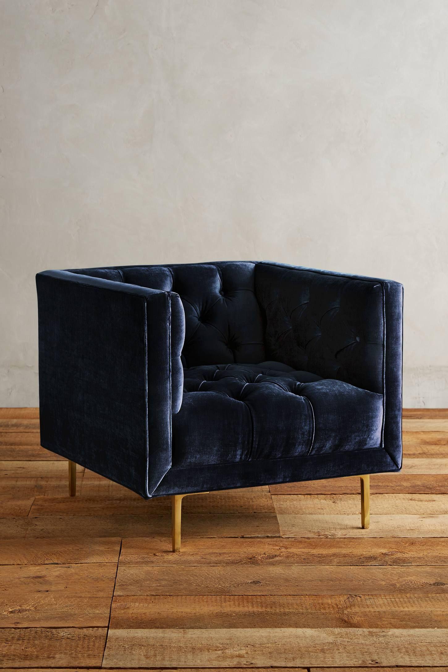 Slub Velvet Mina Chair In 2020 Unique Living Room