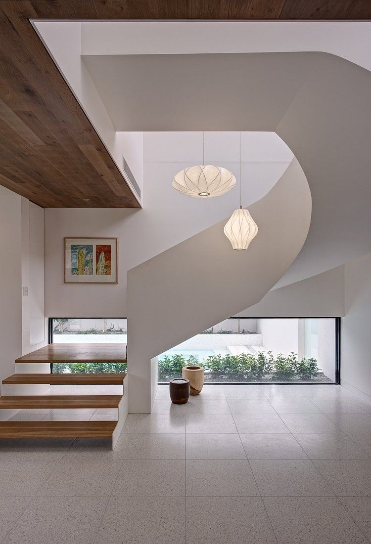 InteriorSwirl Like Staircase Luxury Decorating Mansion Interior Designs Photos In Australia Escape House Home Retreats Plans Modern And Cozy