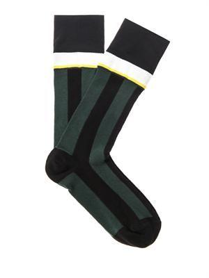 Fine Knit Stripe Socks In 2019 Striped Socks Socks Marni