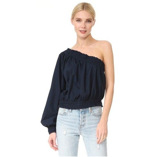 31fe8a2c135ff Free People Annabelle Asymmetrical Top ( 78) ❤ liked on Polyvore featuring  tops
