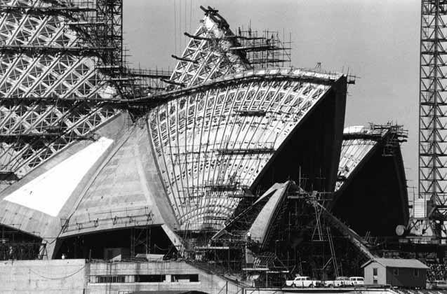 Opéra de Sydney construction