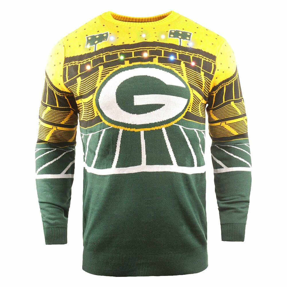Ebay Sponsored Green Bay Packers Light Up Bluetooth Speaker Sweater Mens Green Sweaters Plus Size Activewear