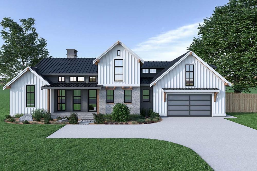 Farmhouse Style House Plan 40908 With 3 Bed 3 Bath 2 Car Garage Farmhouse Style House Country Style House Plans Modern Farmhouse Plans
