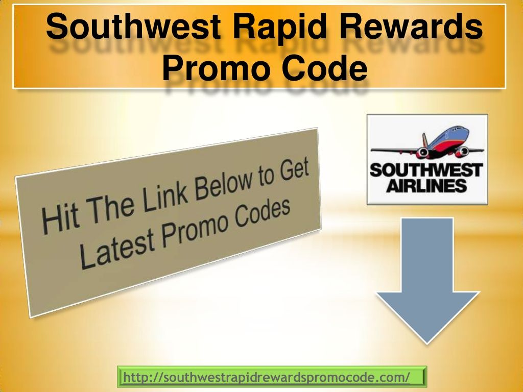 How To Get A Promotion Code For Southwest Airlines