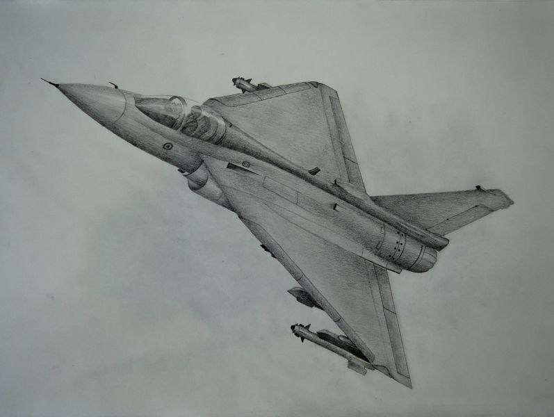 Indian LCA - Tejas -pencil- | my sketches | Fighter jets