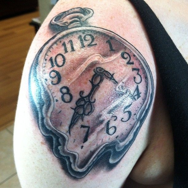 """Salvador Dali Tattoo Dali Tattoo: Inspired By Salvador Dali's Famous Painting """"The"""