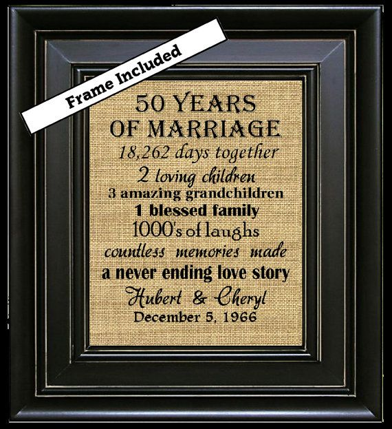 framed 50th wedding anniversary 50th anniversary gifts. Black Bedroom Furniture Sets. Home Design Ideas
