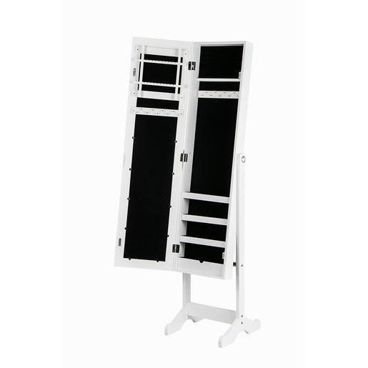 Miroir Psychè range-bijoux - MDF et verre - 34 x 37 x H 145 cm ...