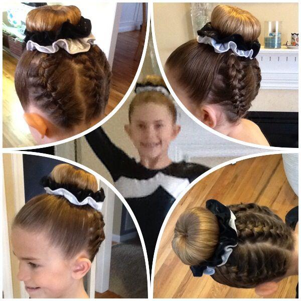 Pin By Jenney Perloff On Braid Bun Gymnastics Hair Competition Hair Braids For Long Hair