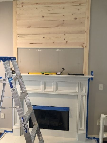 A DIY How-To For The Farmhouse Shiplap Fireplace Of Your Dreams | Shiplap fireplace, Renovation, Fir
