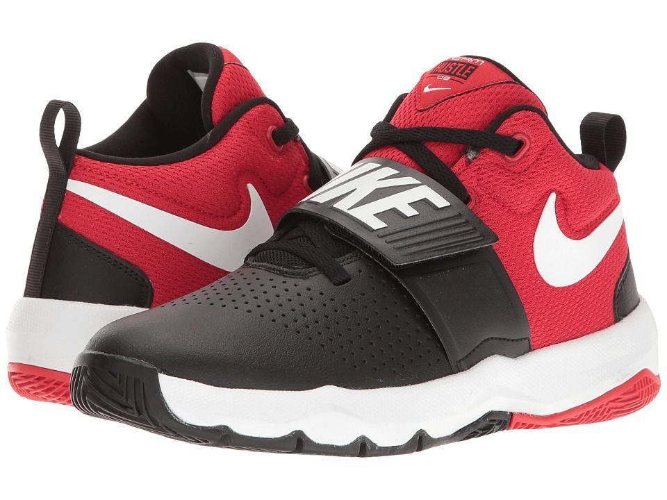 various colors 46b46 4be6f Nike Kids Team Hustle D8 (Big Kid) Boys Shoes Black White University Red