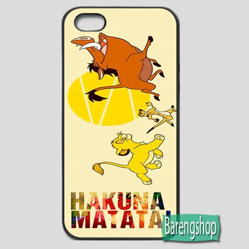 Hakuna Matata Photo iPhone 5 or 5S Rubber Case