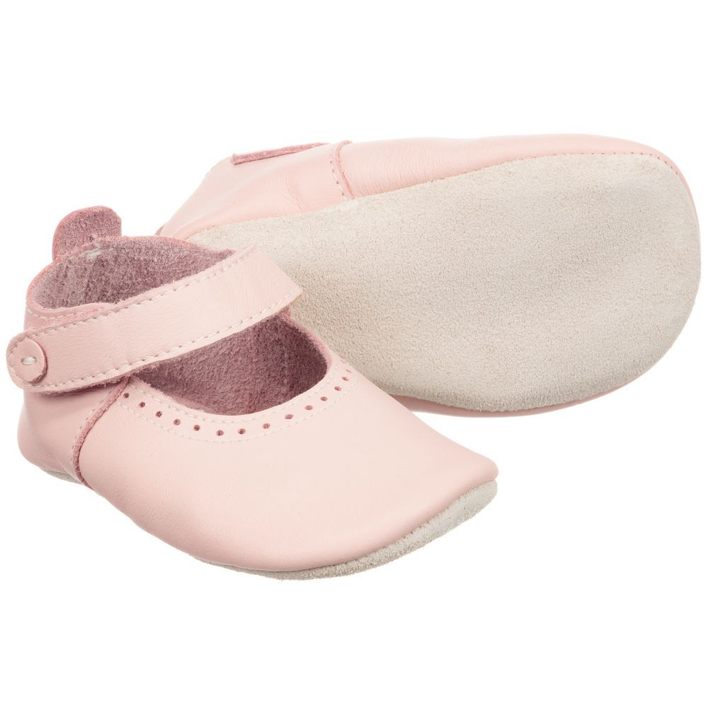 53c0a42b6727 Pink Leather Pre Walker Shoes for Girl by Bobux Soft Sole. Discover more  beautiful designer Shoes for kids online