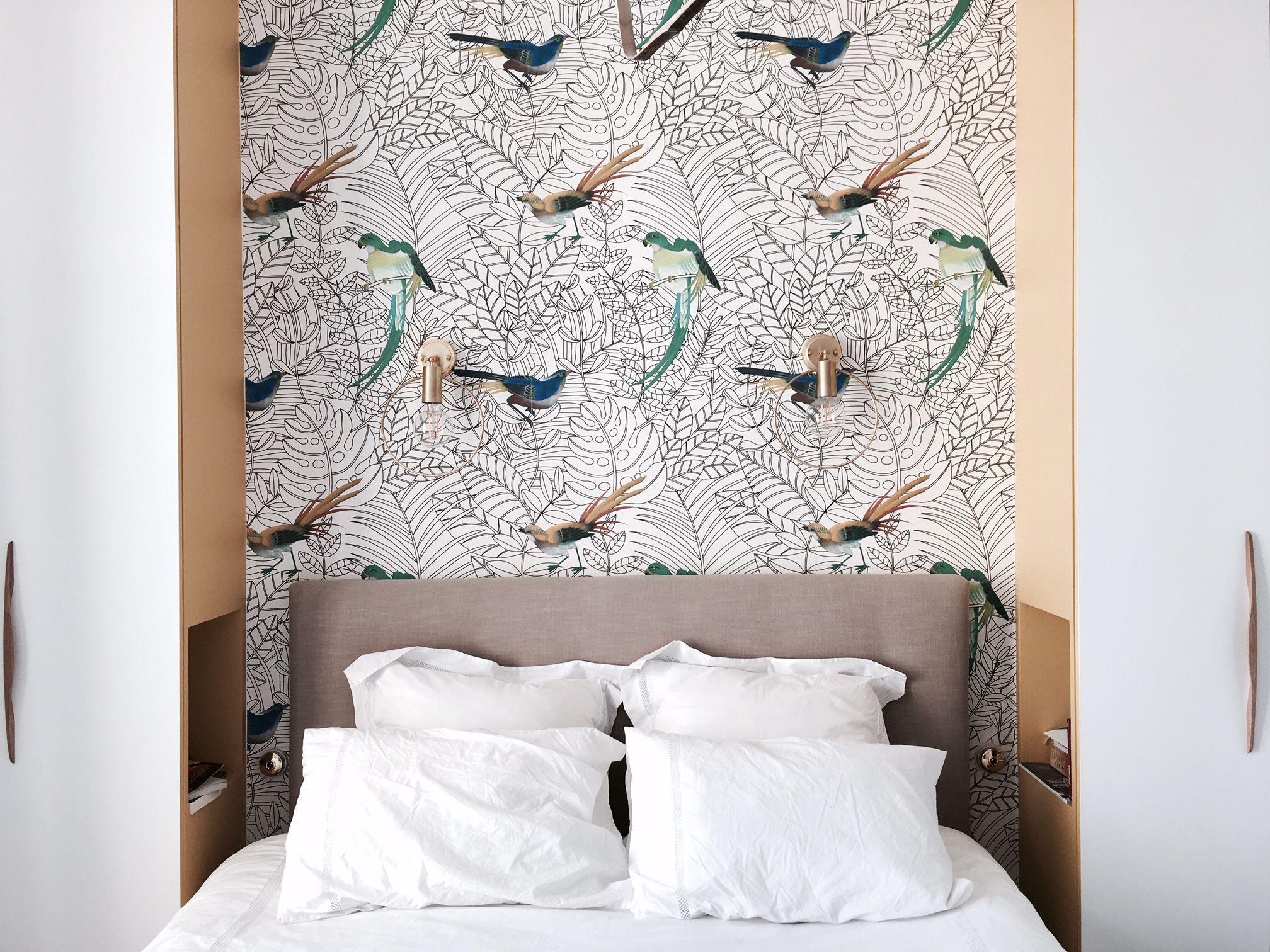Tete de lit papier peint Amazone, Nobilis | Stay in 2019