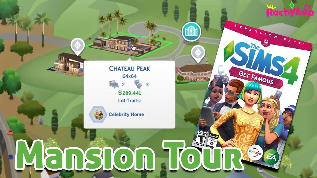 The Sims 4 Get Famous: Chateau Peak Tour [Mansion on 64x64 lot