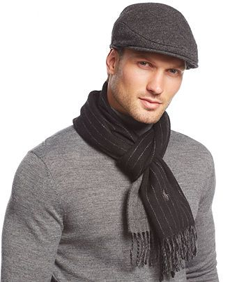 71d9601634b Polo Ralph Lauren Solid Driver Cap and Haberdashery scarf - Hats ...