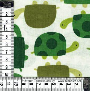E289 tilkkutyökangas -kilpikonnat, luonnonvalk. tausta
