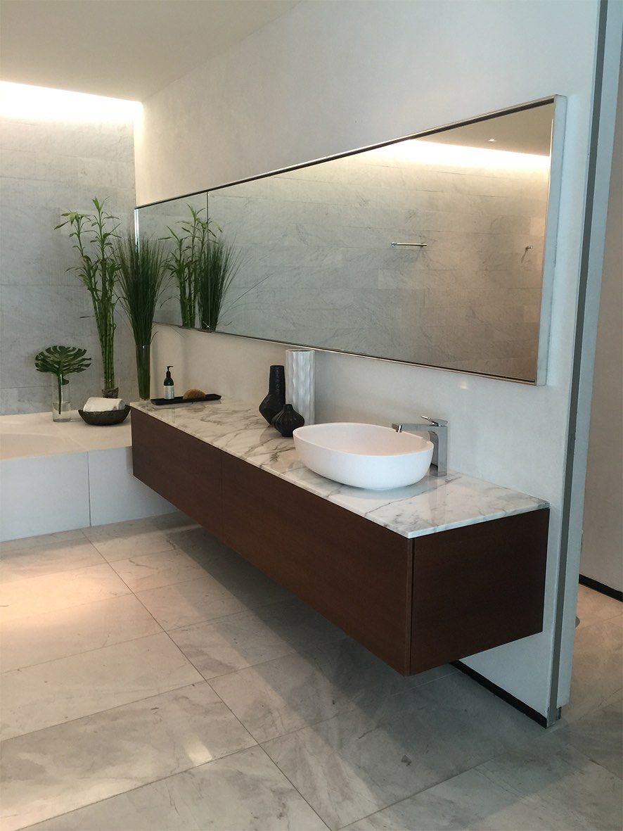 Project completed in Bal Harbour FL Less is more bathroom