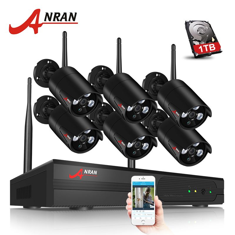 Only Us 220 49 Anran Newest Plug And Play 8ch Wireless Nvr Surveillance Security Cameras For Home Wireless Security Camera System Wireless Surveillance System