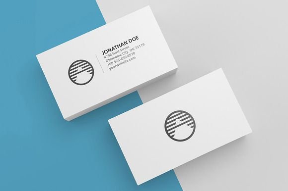 3 Blank Business Cards Mockup With Images Business Card Mock
