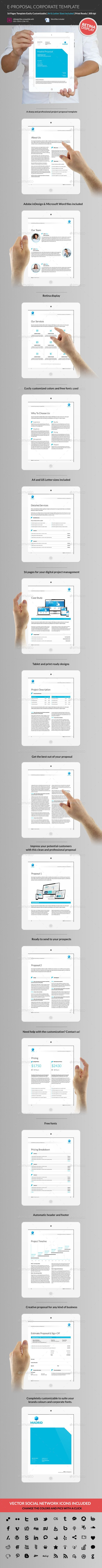 E Proposal Business Proposal Template Proposal Design Indesign Layout