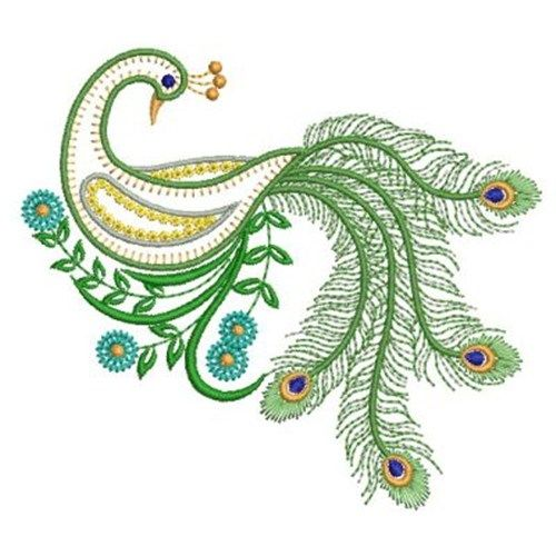 Image Detail For Vintage Peacock Embroidery Design