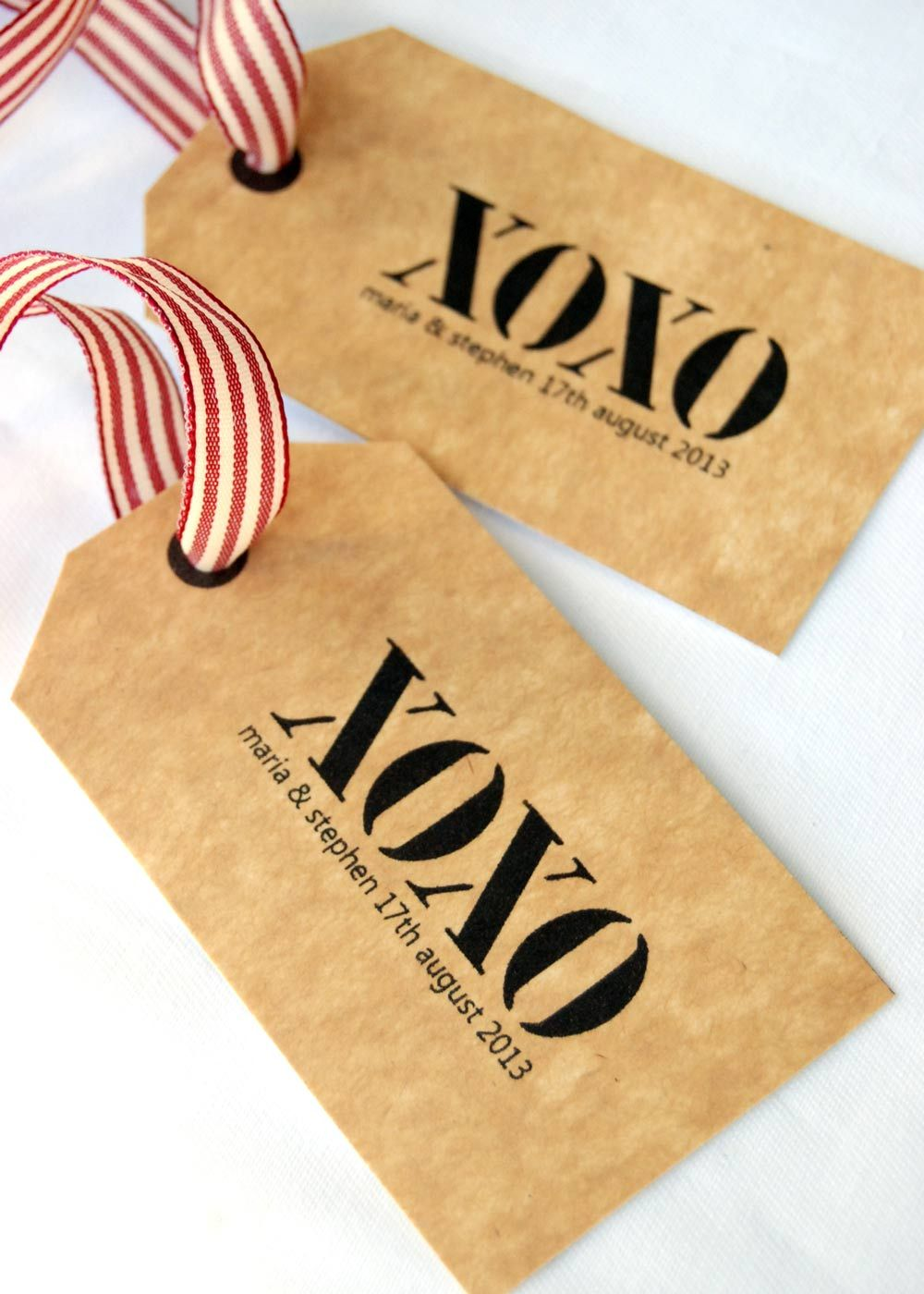 Xoxo large wedding gift tags gift wrap bags tags pinterest diy wedding small gift tags an easy do it yourself project solutioingenieria Images