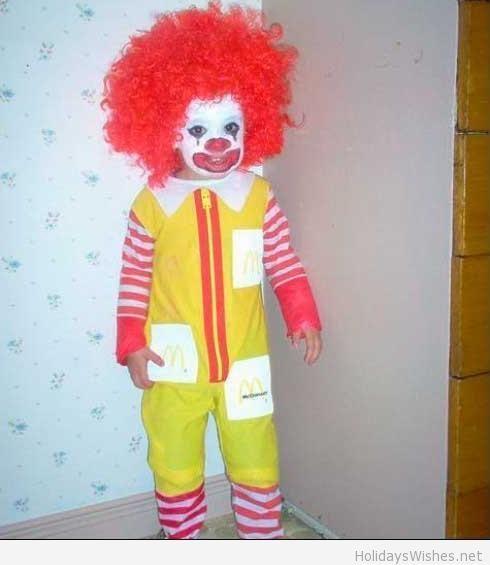 funny kids halloween costumes ronald mc donald funny kids costumes - Funniest Kids Halloween Costumes