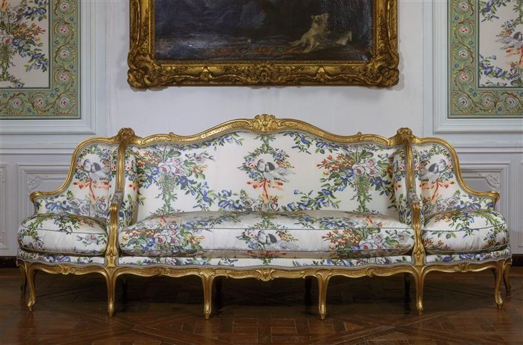 Jean Baptiste I Tilliard Canape A Confidents Images D Art Versailles Meuble De Style Mobilier De Luxe Mobilier De Salon