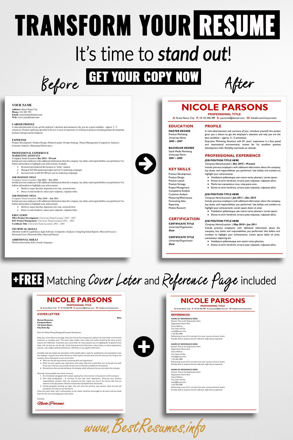Professional Resume Template Nicole Parsons BestResumes