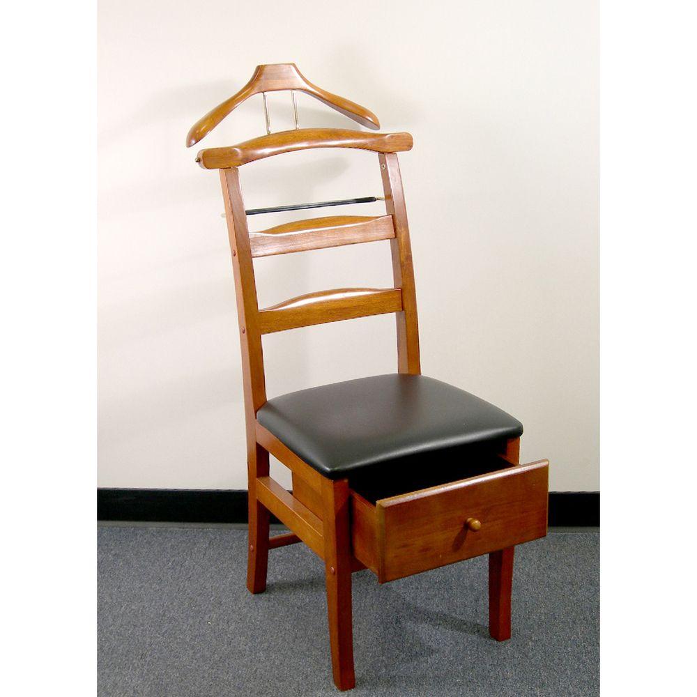 Executive Light Walnut Valet Chair | Overstock.com