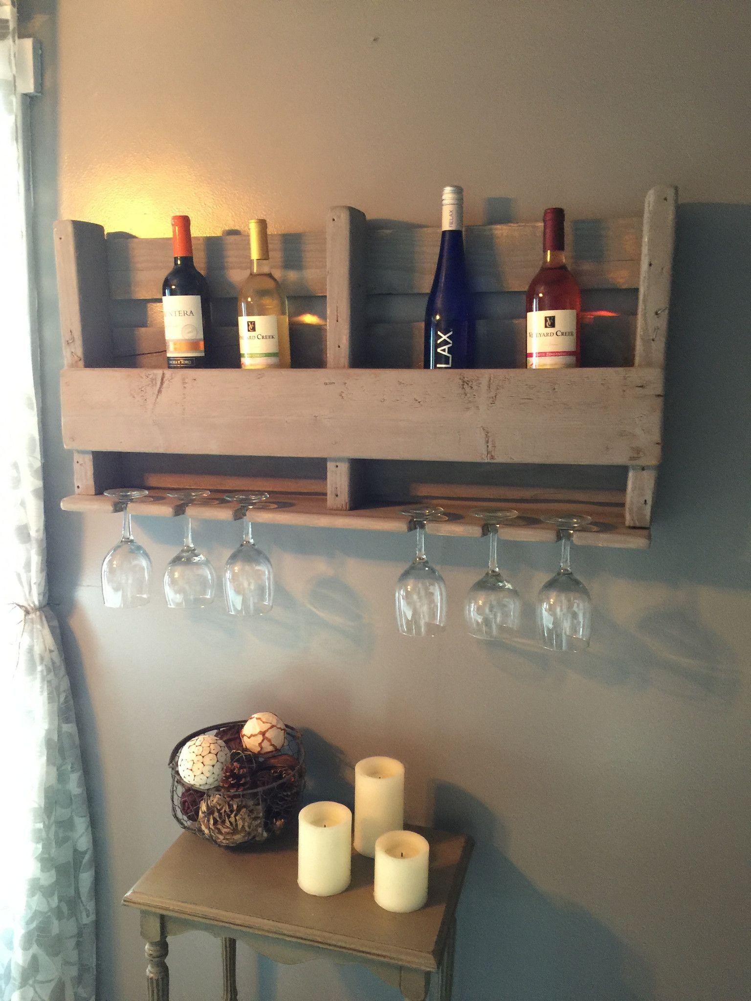 Rustic Wine Rack Repisas Muebles Con Palet Y Botellero # Muebles Botelleros