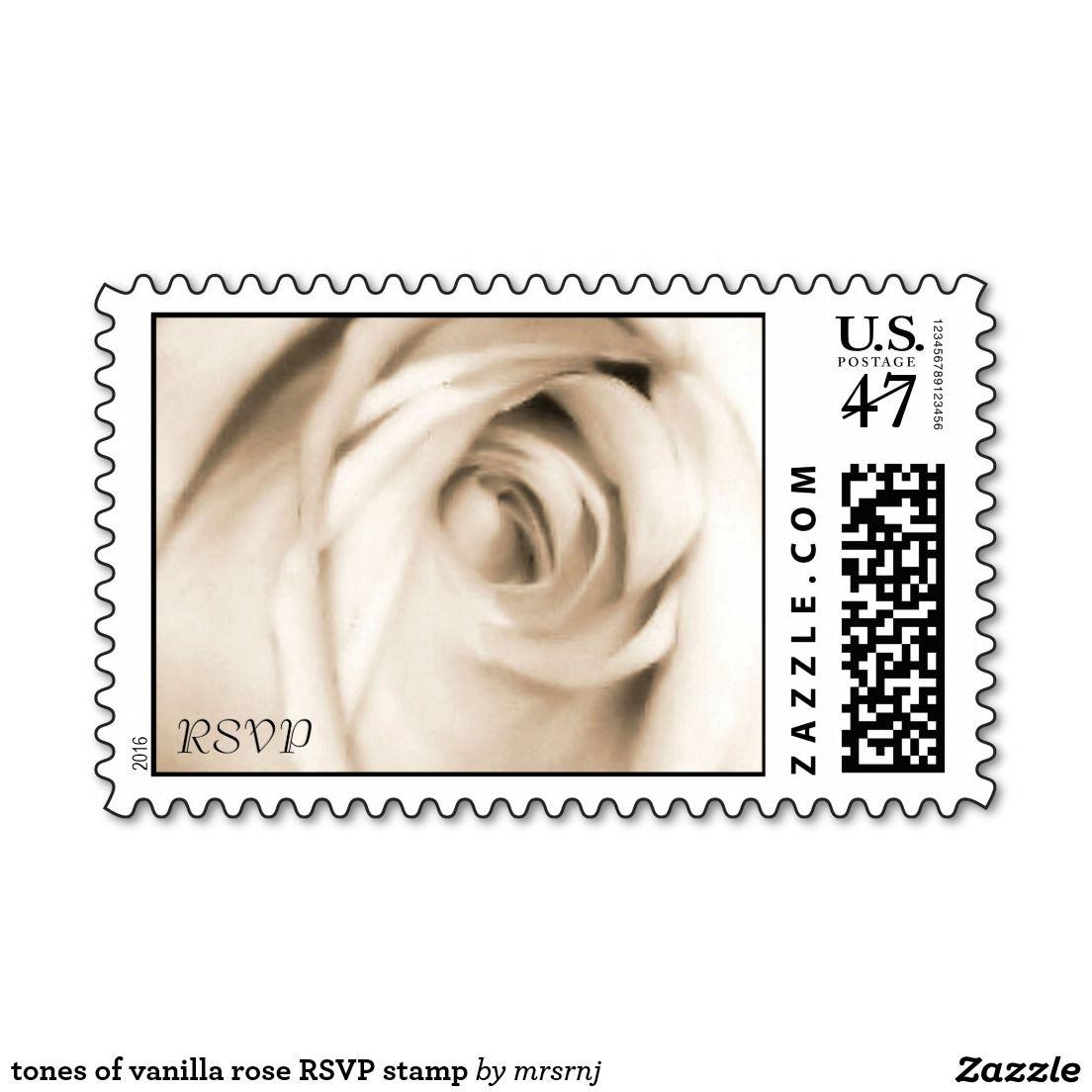 tones of vanilla rose RSVP stamp