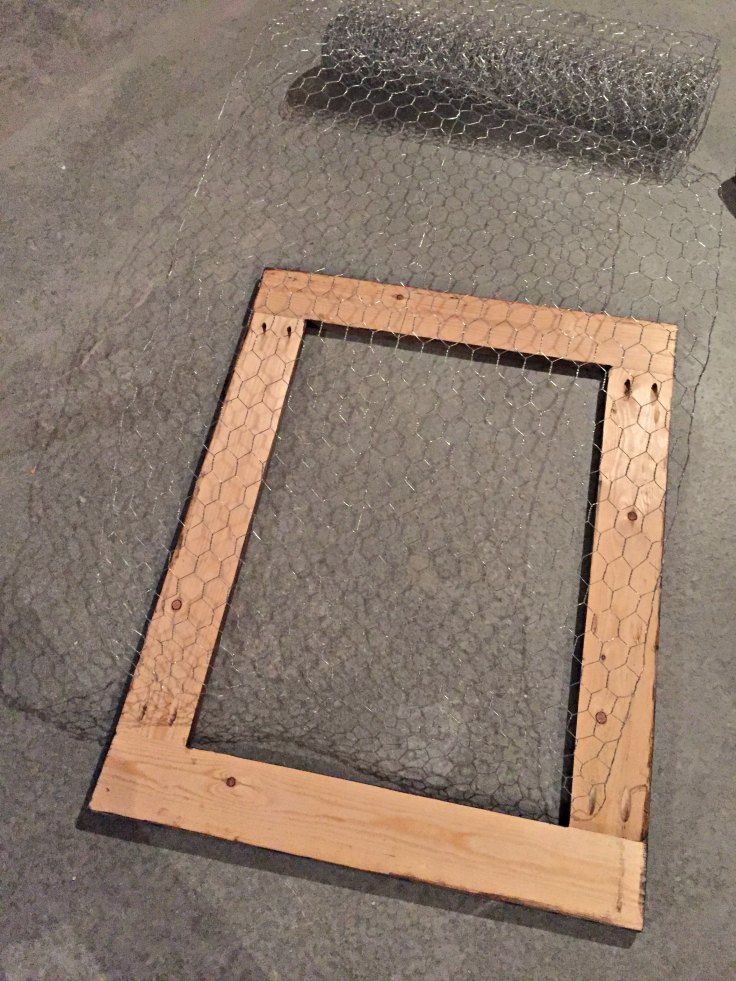 Perfect Chicken Wire Frame Image - Framed Art Ideas - roadofriches.com