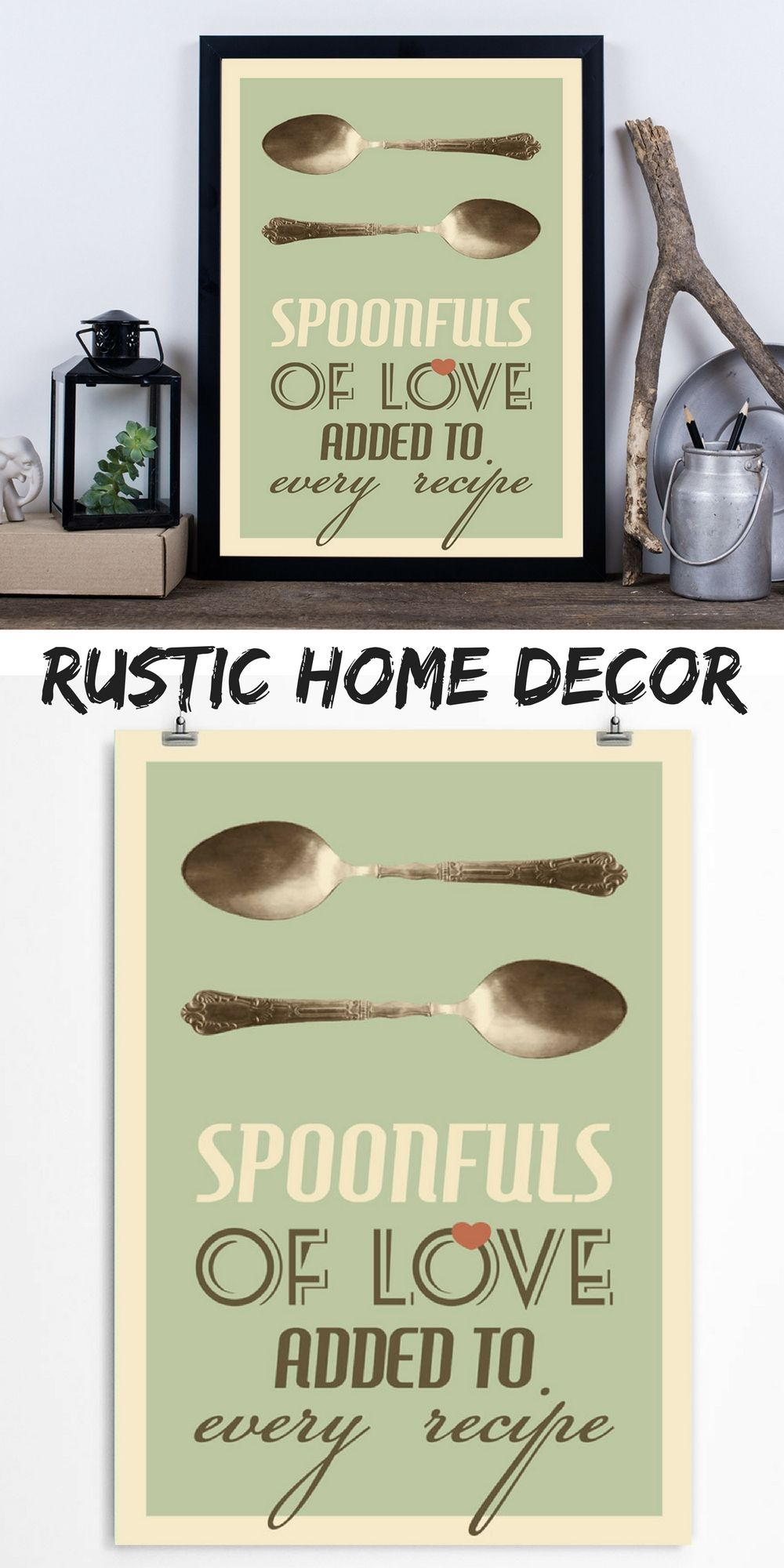 Rustic Kitchen Decor | Kitchen spoon, Kitchen quotes and Rustic kitchen
