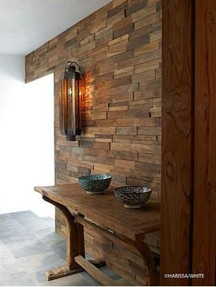 pared madera reciclada decoracion ideas en 2019 pared On paredes decoradas con madera