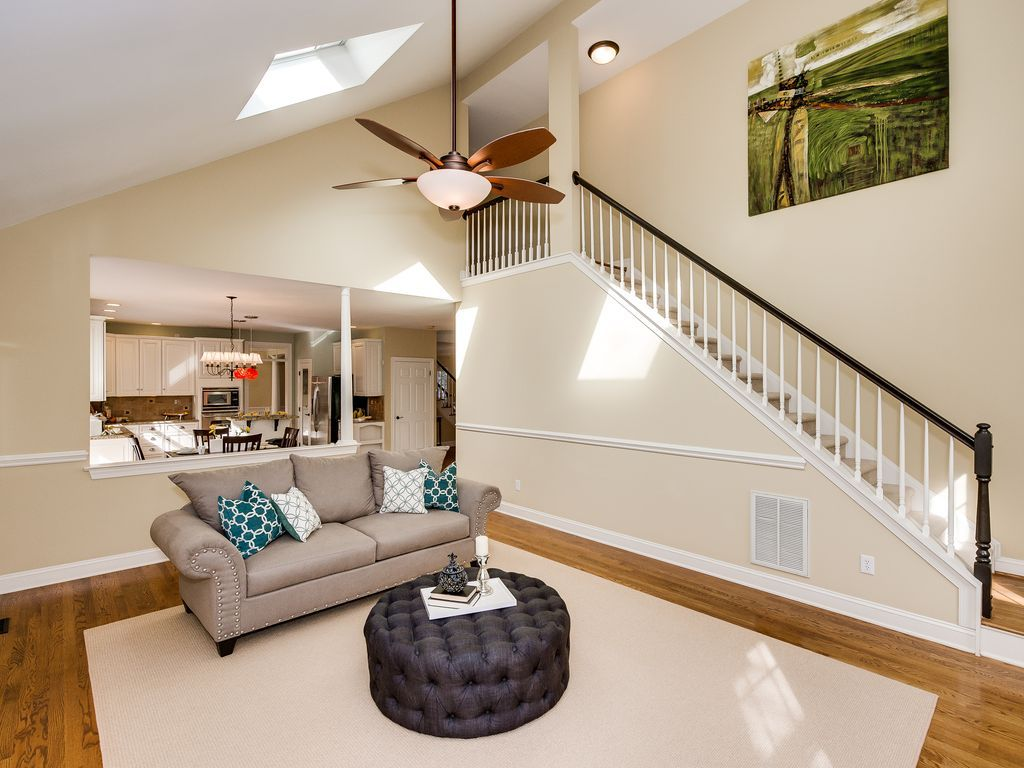 Traditional Living Room with Charlene Grey Ottoman, Trellis Throw ...