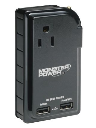 Monster Outlets to Go 300 Portable Power Strip w/ USB for $9 97