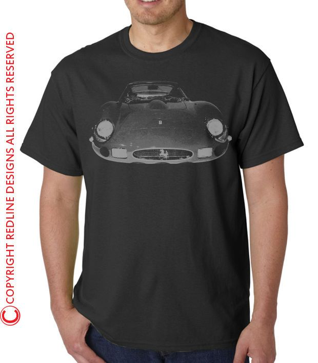 RETRO 1960s FERRARI  250 GTO CAR T-SHIRT DTG ALL SIZES &   COLOURS AVAILABLE R12