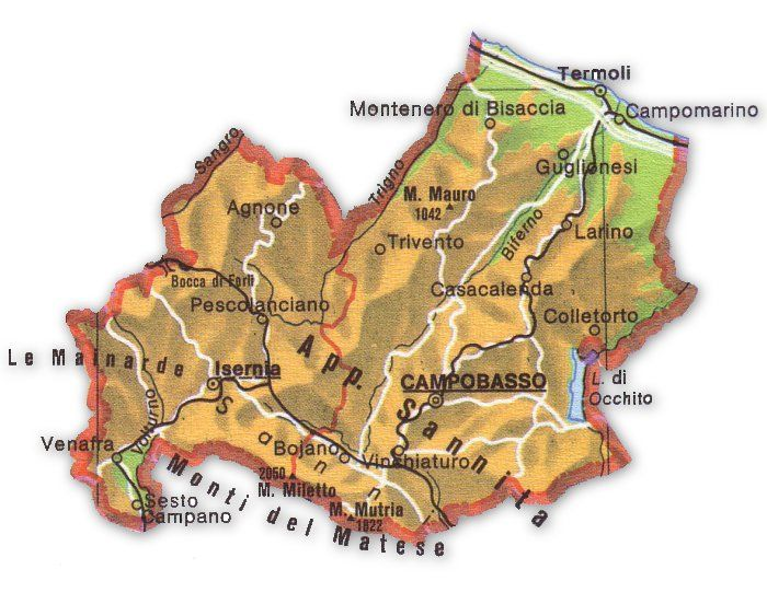 Cartina Regione Molise.Cartina Geografica Molise Geografia E Notizie