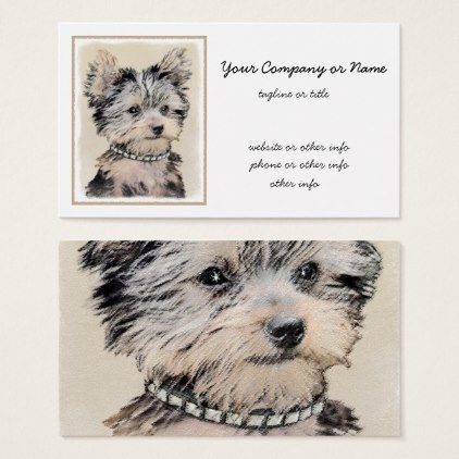 Yorkshire terrier puppy painting original dog art business card yorkshire terrier puppy business card yorkshire terrier puppy terriers dog dogs pet pets cute yorkshireterrier reheart Choice Image