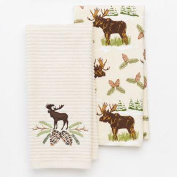 St Nicholas Square 2 Pc Moose Kitchen Towel Set Kitchen