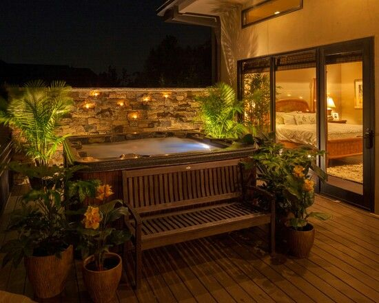 Perfect set up for a hot tub!! outside the master bedroom ...