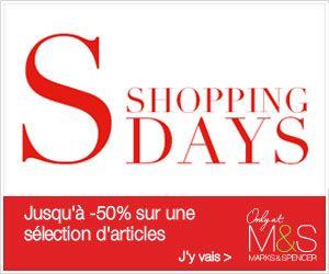 Shopping Days chez Marks & Spencer : jusqu'à 50% de remise sur une sélection d'articles mode | Maxi Bons Plans