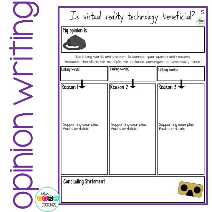 Easy to use graphic organizer for opinion writing. Meets the standards for 3rd, 4th, 5th, and 6th.