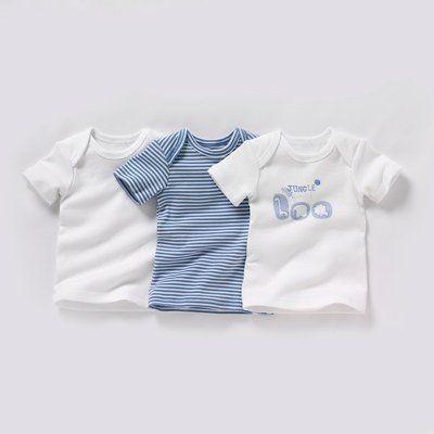 T-shirt manches courtes bébé fille ou garçon (lot de 3)