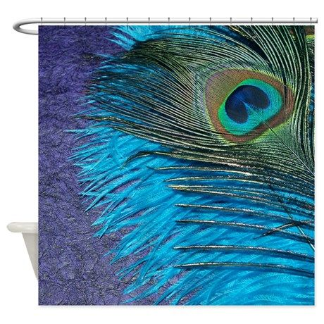 Purple And Teal Peacock Shower Curtain By Christyo Purple Duvet Accent Throw Pillows Peacock Color Scheme