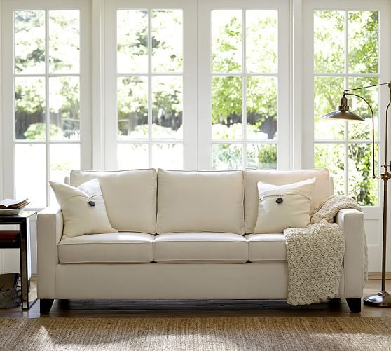 Cameron Square Arm Upholstered Sleeper Sofa Pottery Barn