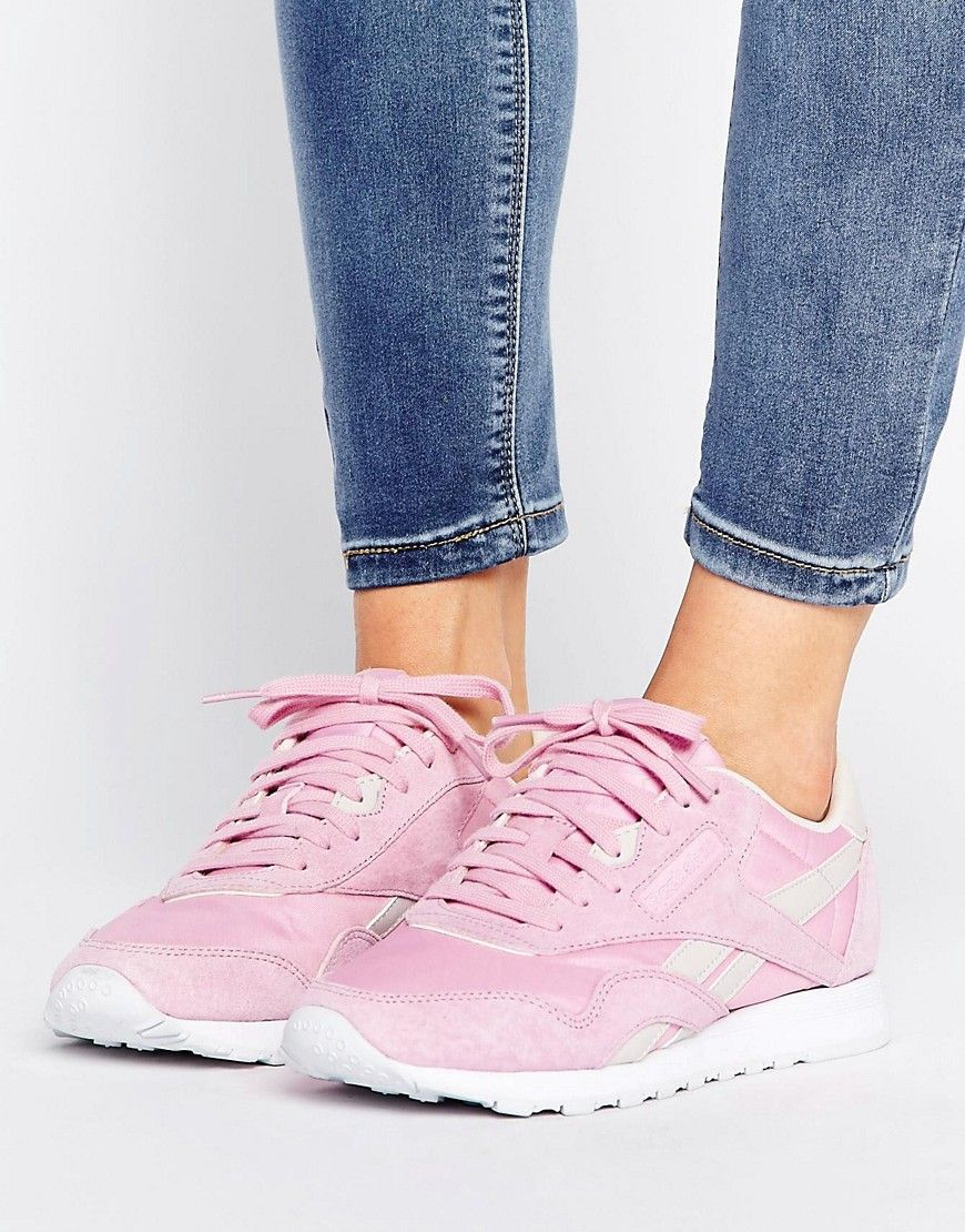Buy it now. Reebok Classic Nylon X Face Trainers In Pink